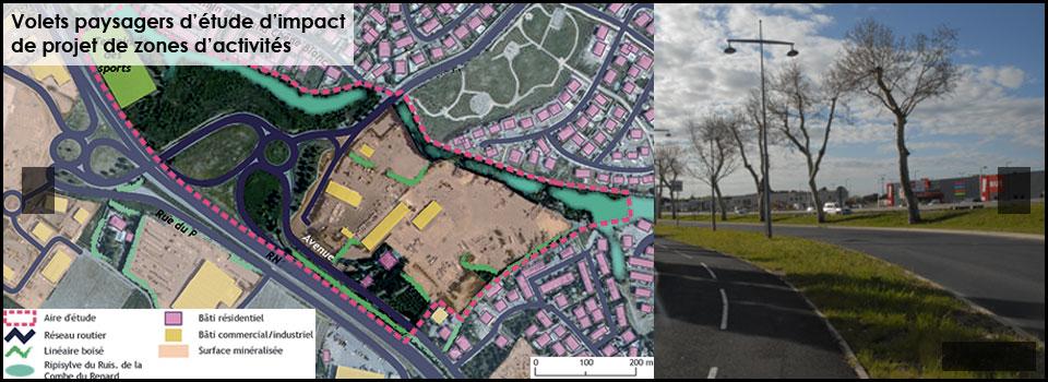 Impact paysager – Zones d'activités / ZAC